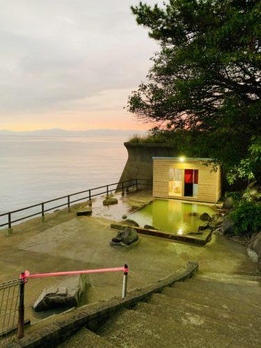 桜島の絶景混浴露天風呂 in 桜島シーサイドホテル